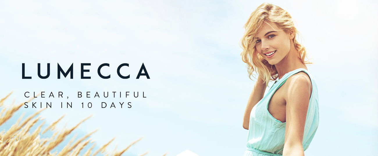lumecca Clear beautiful skin in just 10 days header image